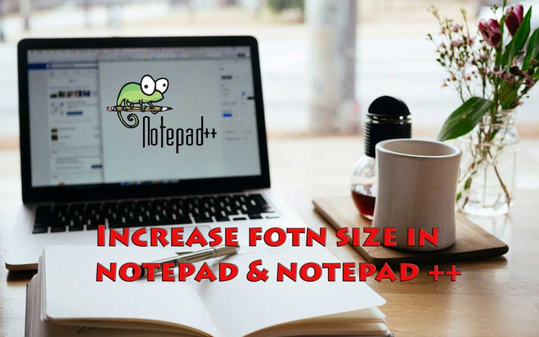 How to Increase the font size in notepad/notepad++